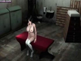 Animated slut getting huge dick