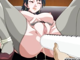 Hentai hotty in leash gets enema