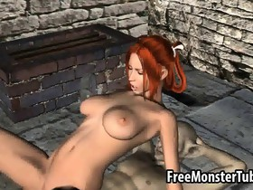 Tasty 3D redhead babe gets fucked hard by a..