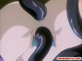 Hentai girl gets tentacles allhole screwed