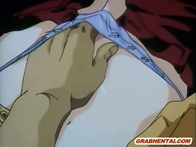 Japanese hentai girl caught and hard poked by..