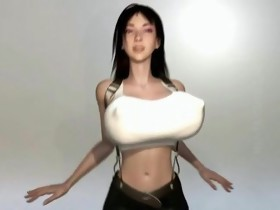 Busty 3D anime babe gets fucked hard