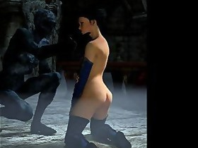 3D Princess Gets Fucked By Orcs!