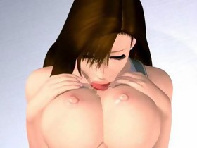 Huge breasted 3D manga cutie rub slit