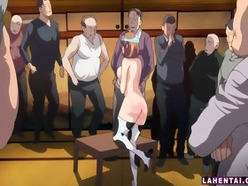 Manga cowgirl receives screwed by a bunch of..