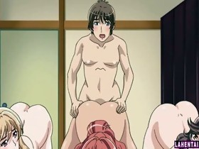 Three giant titted anime hotties acquires fucked