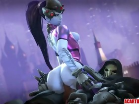 Sexy booty Widowmaker sex compilation