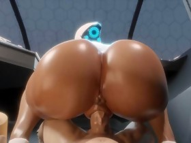 Booty Haydee POV Large Dark Ass Bubble Arse (3D..