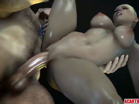 Hot blonde Cassie Cage getting cookie screwed well