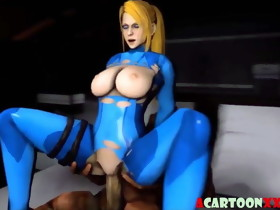 Big tits blonde rides penis and blows it nicely