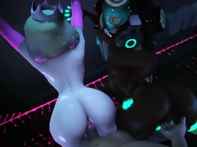 Splatoon 3D Pearl and Marina receive Fucked..