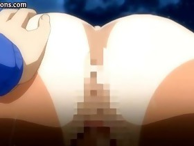 Goregeous anime honey gets drilled